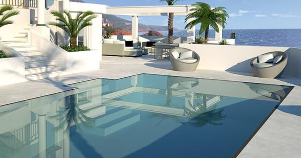 Nous pouvons aussi vous réaliser des plans 3D de vos extérieurs chez Elégance au m2