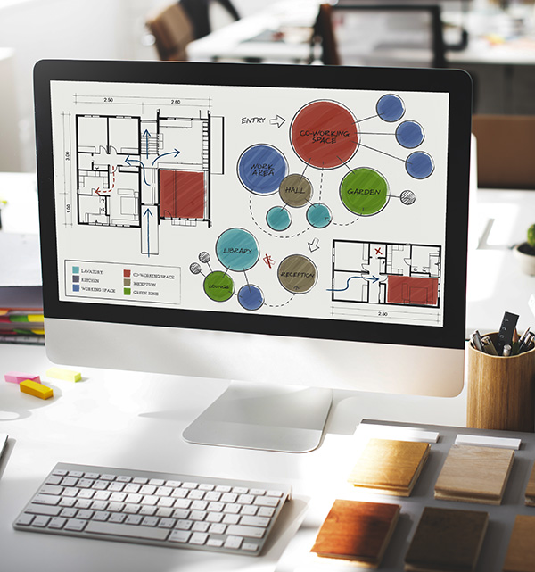 Conception de plans 2D, 3D, plans techniques pour votre architecture d'intérieur avec Elégance au m2