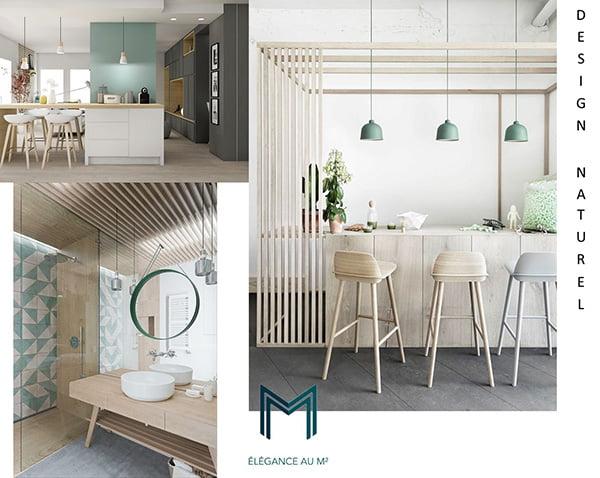 Proposition de style et d'ambiance lors de notre phase de conception de votre aménagement intérieur chez Elégance au m2