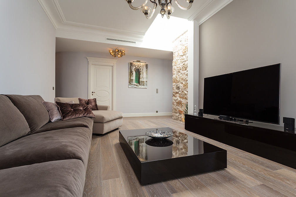 Aménagement de salon moderne d'appartement par notre architecte d'intérieur Elégance au m2