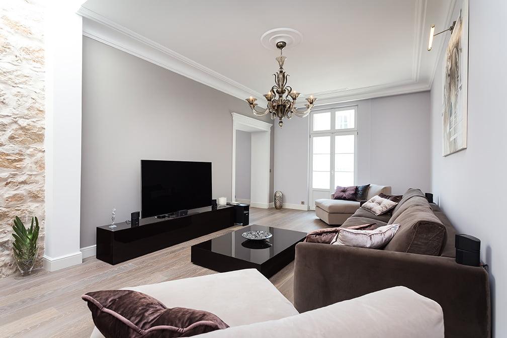 Aménagement de salon et salle à manger par notre architecte d'intérieur Elégance au m2